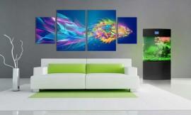 Tablou Multicanvas Peste Abstract