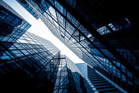 Tablouri arhitectura perpendicular cu cerul