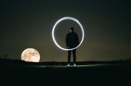 Tablou Luna Plina Noaptea