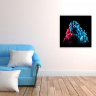 Tablou abstract explozie de culori