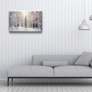 Tablou iarna - padure alba