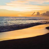 Tablouri peisaje amurg pe mare
