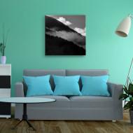 Tablou alb-negru peisaj montan