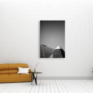 Tablou alb-negru piramide vechi si noi