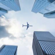 Tablouri arhitectura avion deasupra orasului