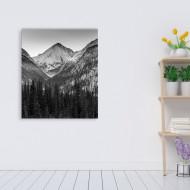 Peisaj montan tablou alb-negru