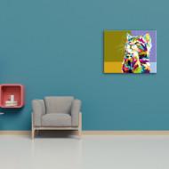 Pisica roaga s-o cumparati tablou abstract