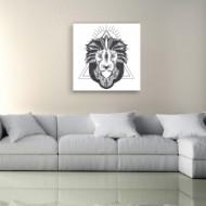 Tablou abstract cap de leu