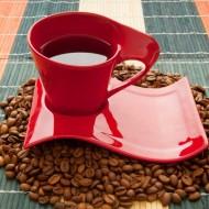 Tablou Ceasca Rosie de Cafea