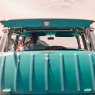 Tablou Masina de Epoca Turquoise
