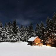 Tablou Cabana Iarna