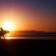 Tablou Surfing la Apus