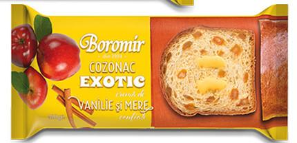BOROMIR COZONAC EXOTIC VANILIE SI MERE 450 gr