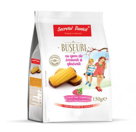 DR FURSEC ~BUSEURI CU ZMEURA SI GLAZURA 150 GR