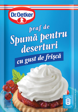 DR. OETKER SPUMA PENTRU DESERTURI  CU GUST DE FRISCA 48 gr