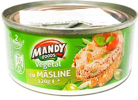 MANDY PATE VEGETAL CU MASLINE 120 gr