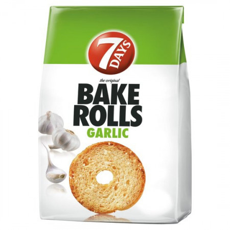 BAKE ROLLS GARLIC 80g