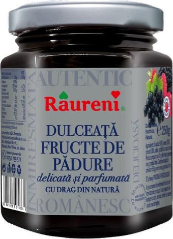 RAURENI DULCEATA DE FRUCTE DE PADURE 250GR