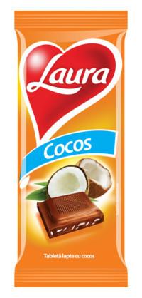 LAURA CIOCOLATA CU CREMA COCOS 90 gr