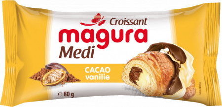 MAGURA CROISSANT CACAO VANILIE 80 GR