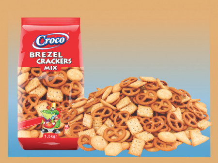 CROCO MIX CRACKERS & BREZEL 1,5 KG