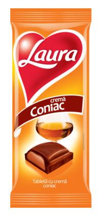 LAURA CIOCOLATA CU CREMA CONIAC 90 gr