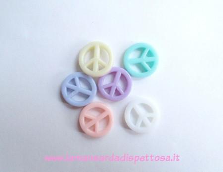 10 perle charm segno della pace immagini