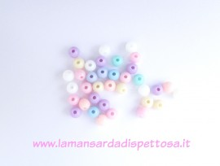 40 perle pastello 6mm. immagini