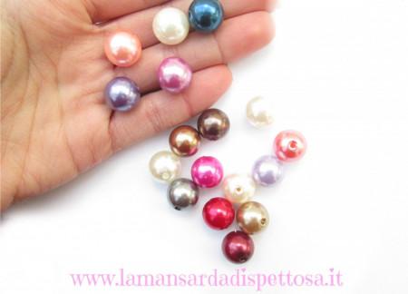 5 perle in acrilico 14mm. immagini