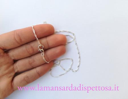 1 base per collana silver 42cm. immagini