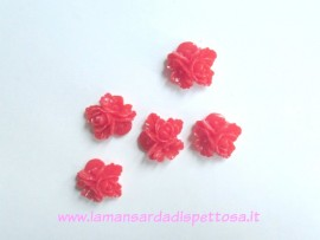 1 coppia cabochon fiori rossi immagini