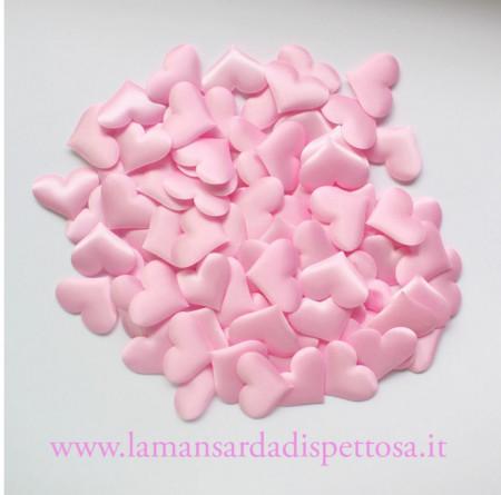 10 cuori in stoffa rosa immagini