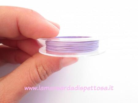 10 mt. di filo wire violetto 0,38mm. immagini