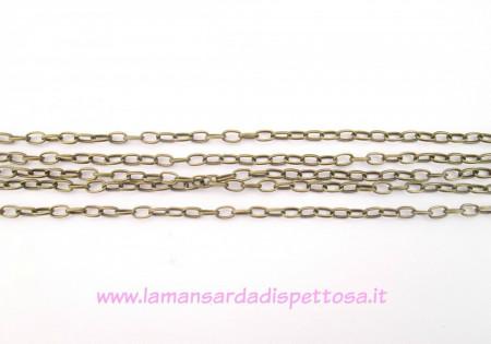 1mt.di catena a maglie quadrate bronzo 6,9x3,8mm.. immagini