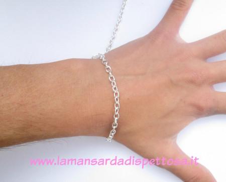 1mt. di catena silver a maglie ovali 5x4mm. immagini