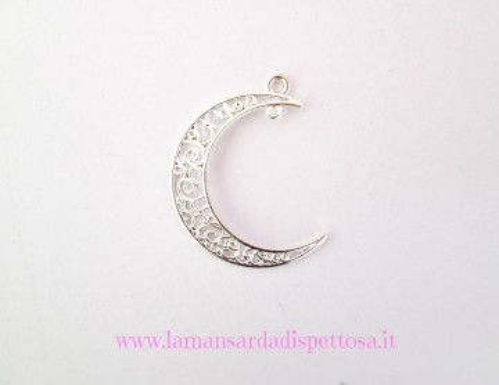 Charm luna traforata silver immagini