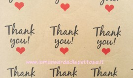 "Foglio adesivi ""Thank you"" immagini"