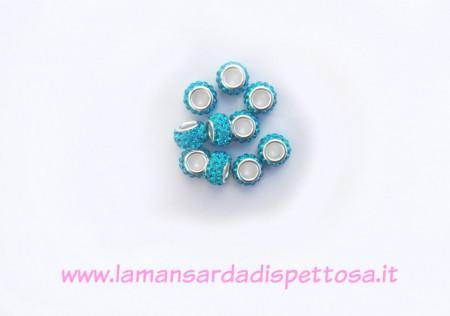 Perla pandora strass azzurra immagini