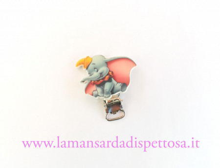1 clip portaciuccio Dumbo immagini