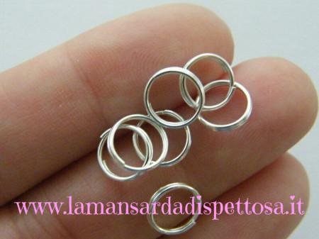 100 anellini silver 8mm. immagini