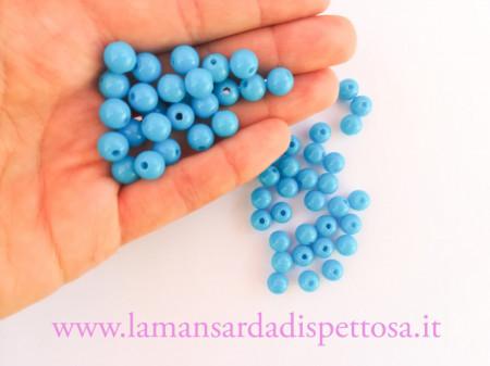 40 perle azzurre 8mm. immagini