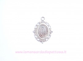Base cammeo silver plated 18x13mm. immagini