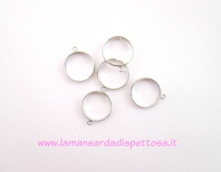 Base per anello argento con anellino immagini