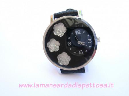 Orologio da polso con strass nero immagini