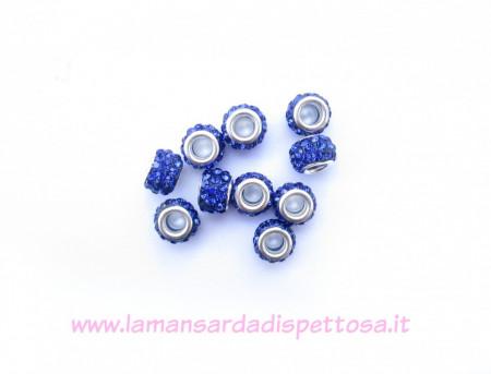 Perla pandora strass blu immagini