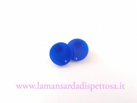 1 coppia basi per orecchini in plexiglass blu immagini