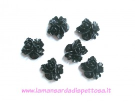 1 coppia cabochon fiori neri immagini