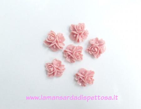 1 coppia cabochon fiori rosa immagini