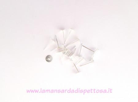 50 basi per orecchini a perno silver 6mm. immagini