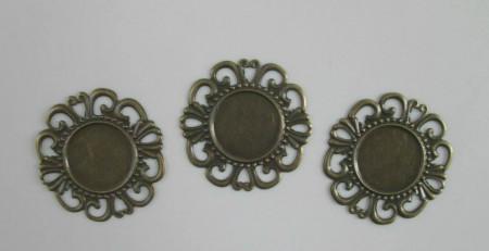 Base per cammeo filigrana bronzo immagini